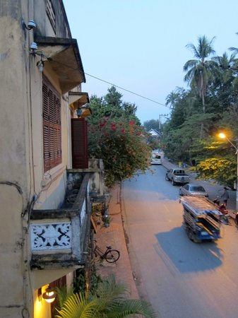 Villa Nagara: view of street from balcony
