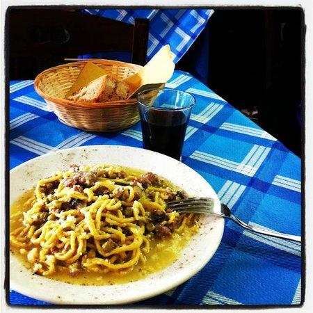 The very delicious pasta