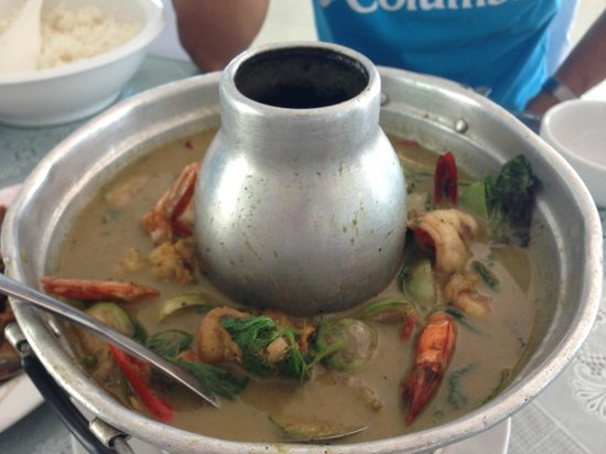 Hua Hin Bike Tours : Our yummy seafood lunch
