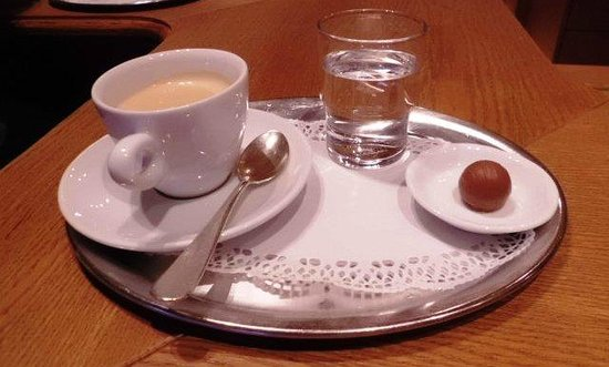 Gasthof Post Hotel: Coffee at Gasthof Post