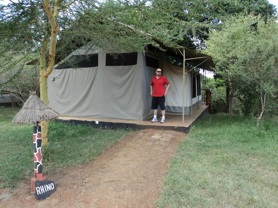 Olumara Camp: Me out of the tent