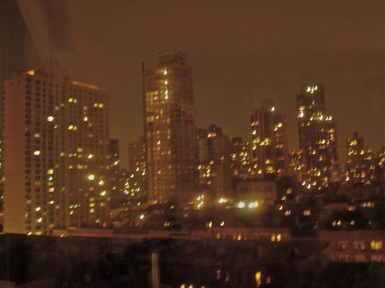 The Marmara Manhattan: a very blurry view from my crappy camera but what a skyline out my window