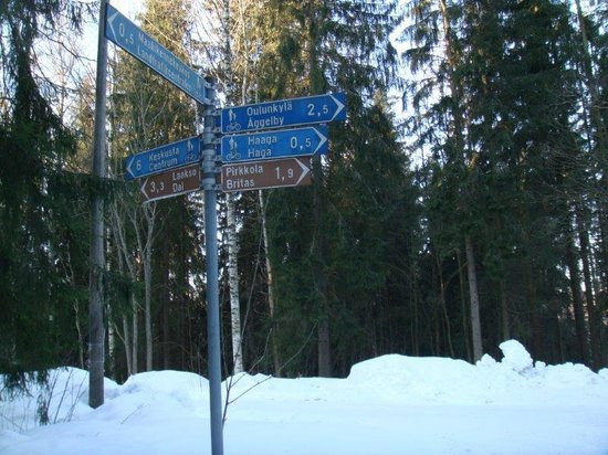 BEST WESTERN PLUS Hotel Haaga: Guideboard in the forest