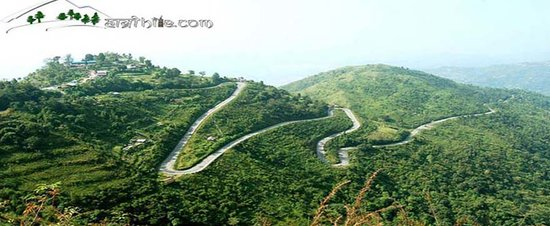 Road at mountain in Bhedetar, Hile