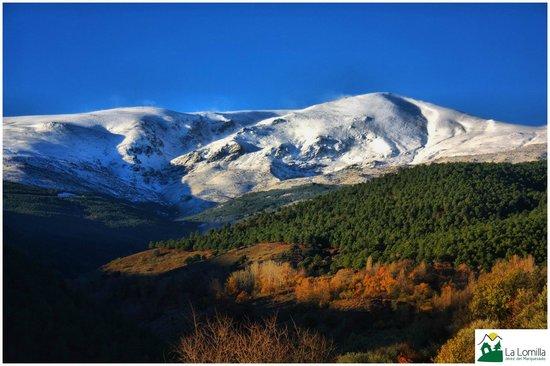 Vistas de Sierra Nevada desde el Camping La Lomilla