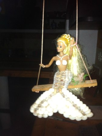 Casa Sirena Hotel : Mermaid theme at hotel, see Barbie swing