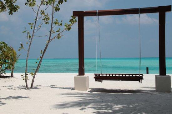 Conrad Maldives Rangali Island: Détente vue sur le lagon