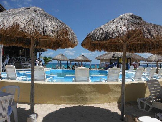 Cozumel Bar Hop: pool area at Punta Morena