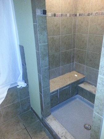 Comfort Suites Monaca: Shower has a Rainfall head and regular wall