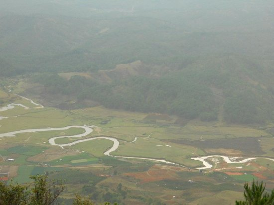 Thi Thao Gardenia Hotel: Golden River (view from Lang Biang Mountain)