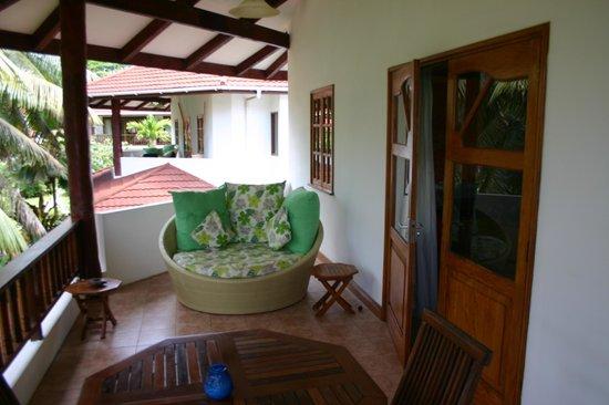 Le Duc de Praslin: Terrasse chambre familiale