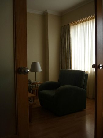 Part of my suite in the Sana Metropolitan hotel in Lisbon