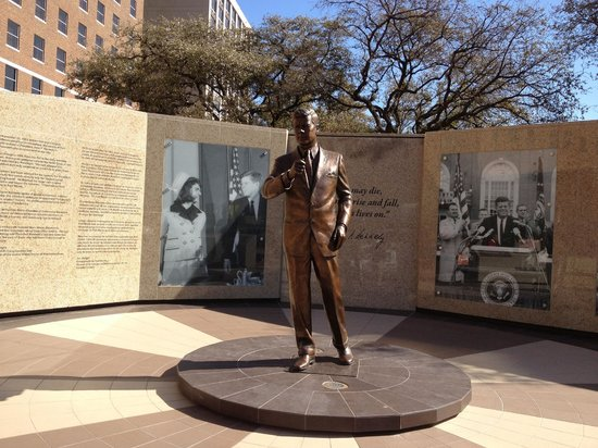 Hilton Fort Worth: A Memorial Plaza to JFK stands in front of the FW Hilton