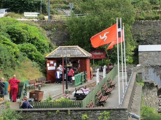 The Great Laxey Mine Railway station, ticket booth & shop