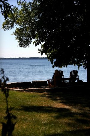 Howe Island B&B: View over the river