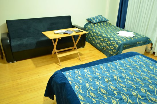 Nice Apart Hotel: Beds and sofabed.
