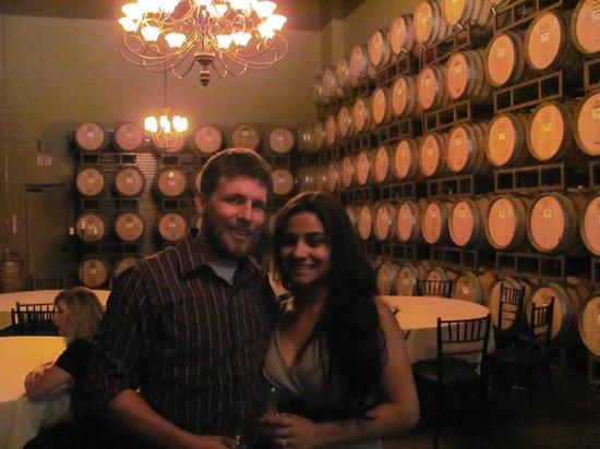 Wilson Creek Winery: The barrell room