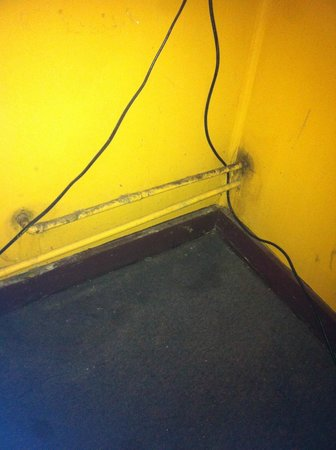 Woodstock Lodge: moldy corner under TV