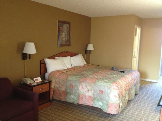 Econo Lodge Inn & Suites: Bed from inside room