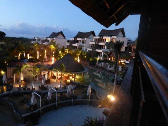 Angsana Balaclava Mauritius: vue du balcon de notre suite