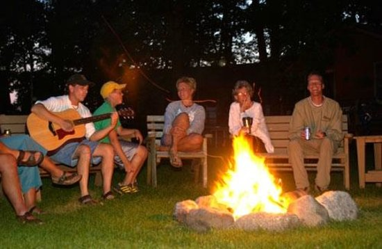 Brindley's Harbor Resort Inc.: One of 6 fire pits