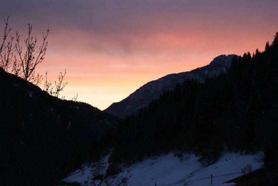 Mountain Hotel Zaluna: Zonsondergang
