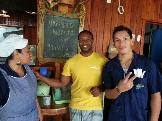 Hotel Banana Azul: Some of the beautiful staff (Franklin makes a mean pina colada)