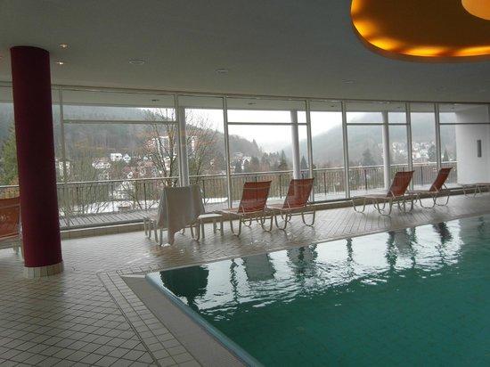 Schwarzwald Panorama: Wellnesbereich mit Ausblick auf Bad Herrenalb