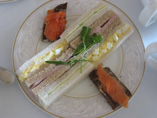 The Shelbourne Dublin, A Renaissance Hotel: Afternoon Tea Sandwiches Presentation
