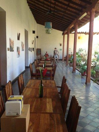 Hotel con Corazon : De plek waar het ontbijt en eventueel diner is