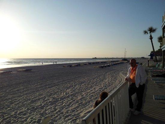 Sandalwood Beach Resort: Beach looking north