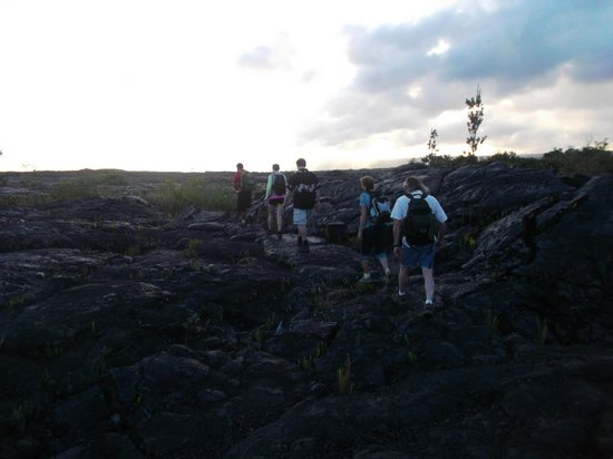 Kalapana Cultural Tours: Long hike ahead of us.