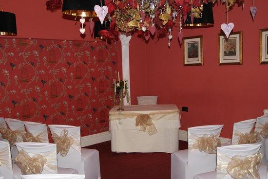 Grassington House: The ceremony room