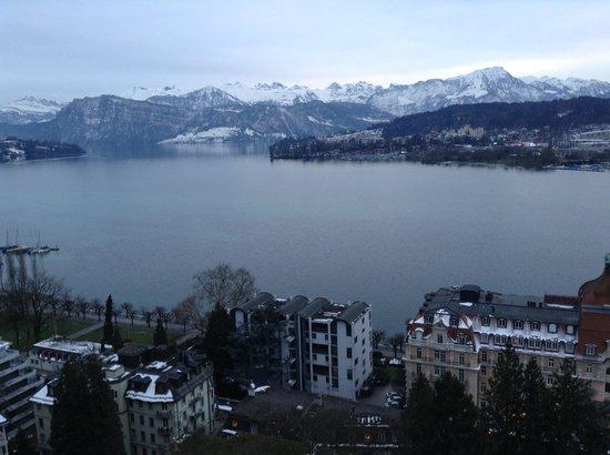 Art Deco Hotel Montana Luzern: Aussicht