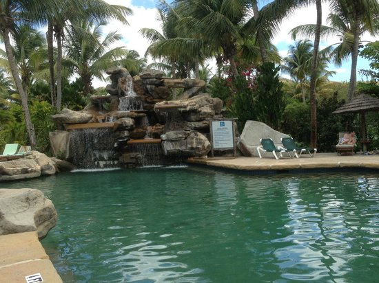 Galley Bay Resort: Waterfall by pool area