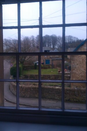 Devonshire Arms at Pilsley: View from bedroom  over Pilsley