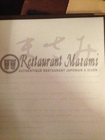 Restaurant Masami : メニュー