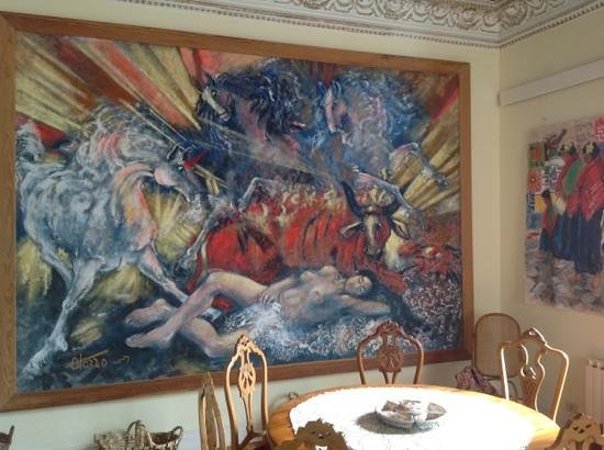 Hotel Alhambra: Dans le Hall, tableau de Otazzo