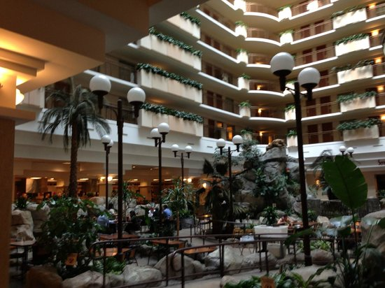 lobby view picture of embassy suites by hilton anaheim. Black Bedroom Furniture Sets. Home Design Ideas