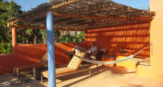 Posada La Poza: Private terrace