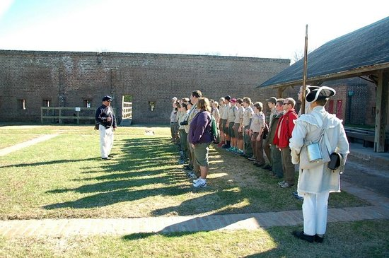 Old Fort Jackson: lined up for inspection