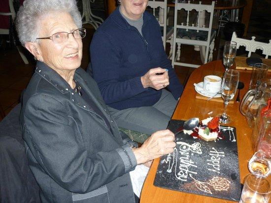 Tavistock Italia Retro Restaurant: My mother celebrating her 89th Birthday