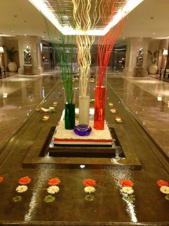 Ashok Hotel: Hotel Lobby -  Prepared for the day of the Republic