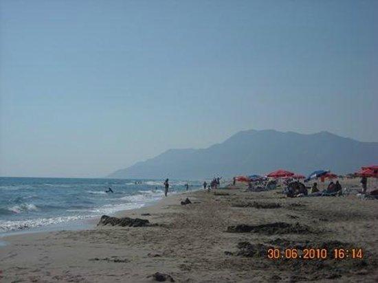 Patara Delfin Hotel: 18 km of beach, view towards west
