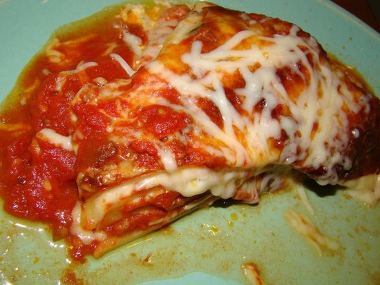 Sam & Jack's Deli: Half of the grab & go lasagna, on our own plate