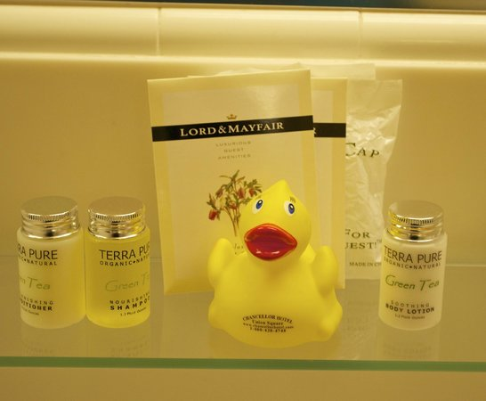 Chancellor Hotel on Union Square: Complementary bath salts & rubber ducky