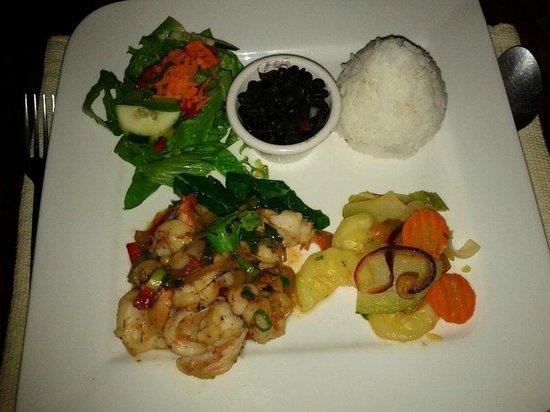 Hotel Kokoro Arenal: Shrimp dinner by Anita, co-owner of Kokoro.  Thanks Anita!