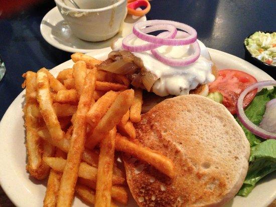 Whitehouse Inn: French Onion Burger w/ Fries