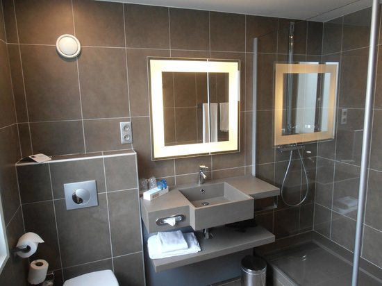 Novotel Toulouse Centre Wilson: Different room bathroom with normal shower
