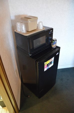 Travelodge Cookeville: Fridge and microwave.